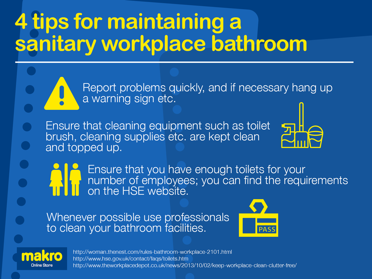 4 tips for maintaining a sanitary workplace bathroom